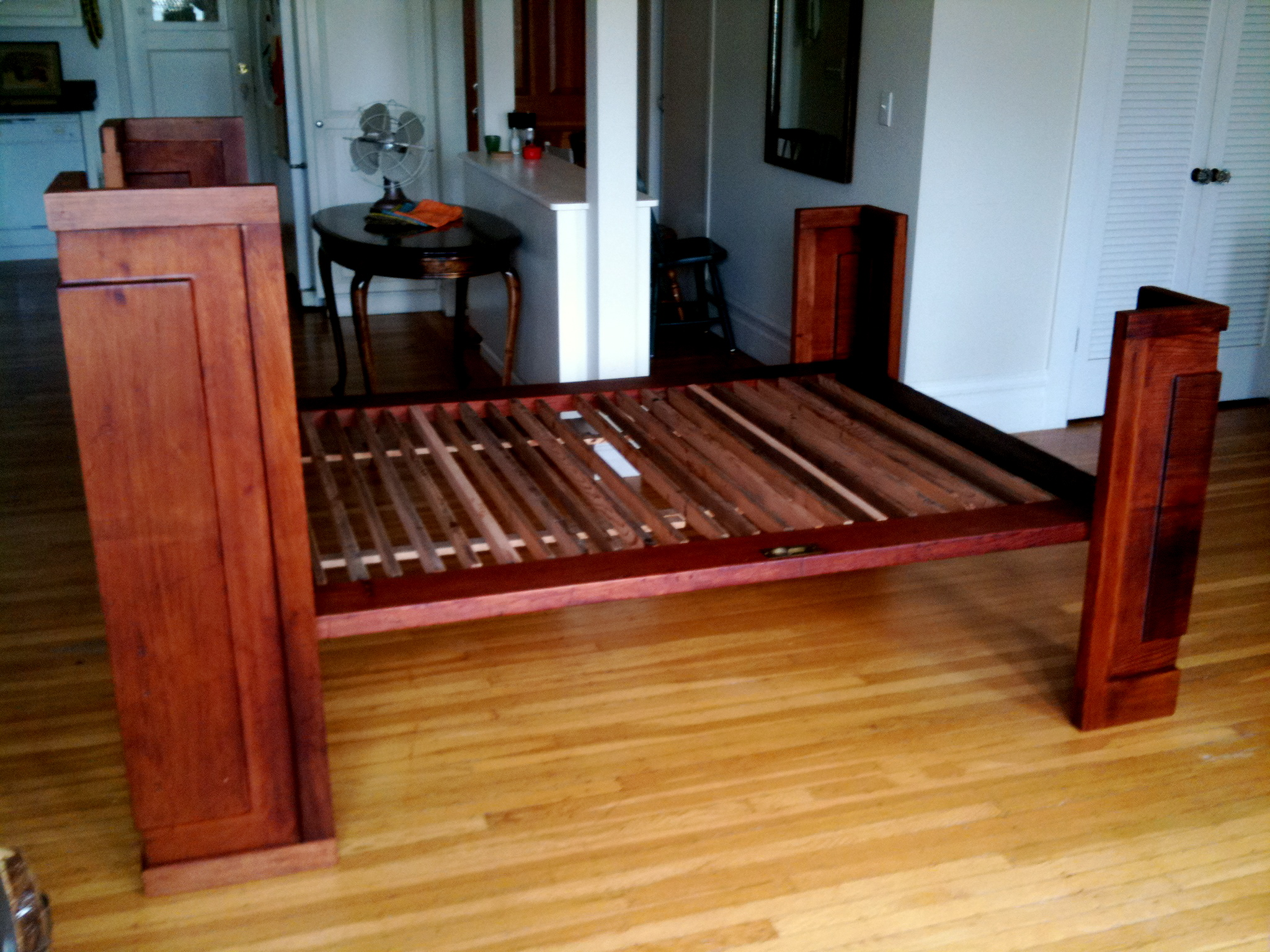 salvaged redwood bed reason furniture design