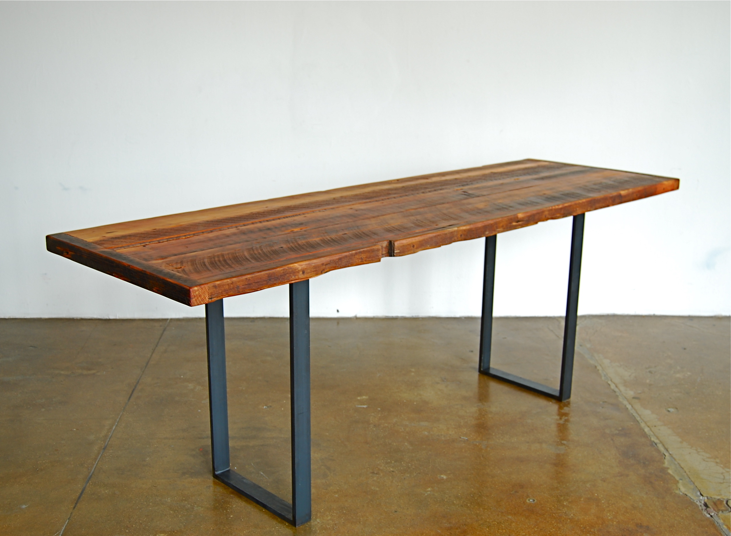 Dwelling dining tables on pinterest wood dining tables for Thin dining table