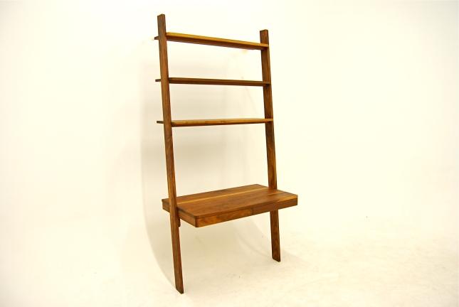 Leaning ladder shelves plan plans diy how to make shiny91oap for Build ladder shelf plans